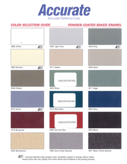 Accurate Powder Coated Metal Colorchart Manning