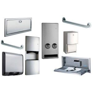 Bathroom toilet partitions hardware lockers restroom for Bathroom partition hardware