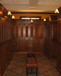 Louvered Wood Lockers