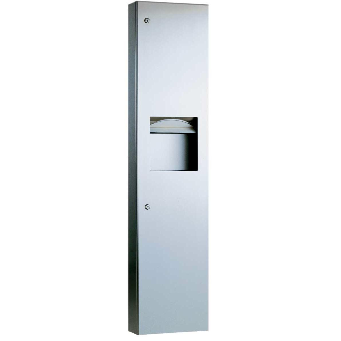 38032 Semi-Recessed Paper Towel Dispenser & Waste Receptacle