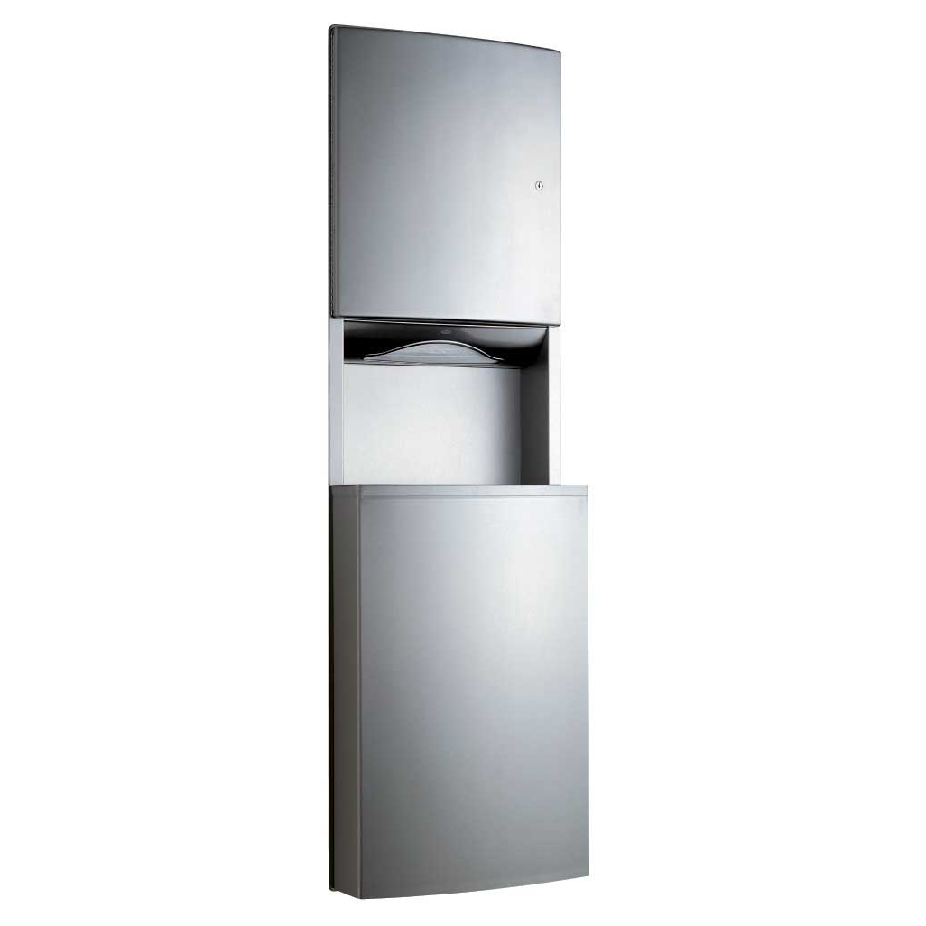 43944 Recessed Paper Towel & Waste Receptacle Combo