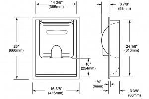 Xlerator Recess Kit Dimensions