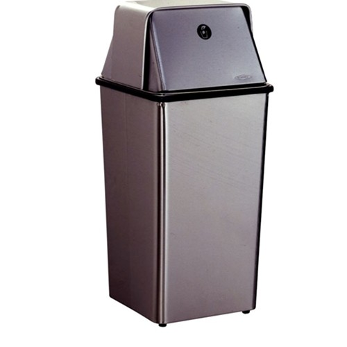 2250 floor standing waste receptacle w top manning for Floor receptacle